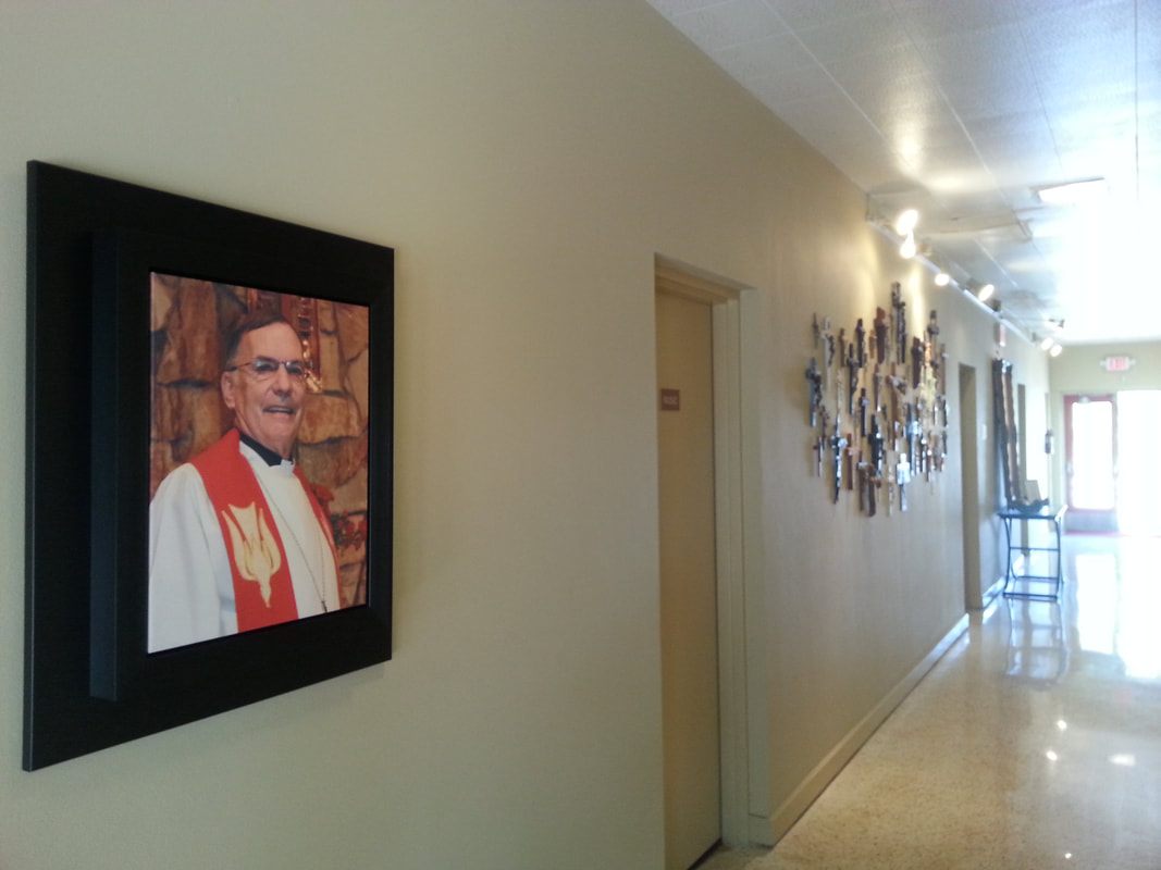 Picture of Pastor Fred in Hallway